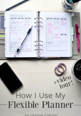 How I Use The Flexible Planner