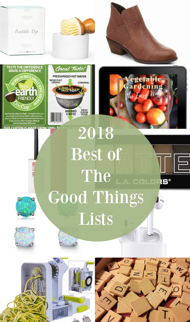 Best of The Good Things Lists 2018