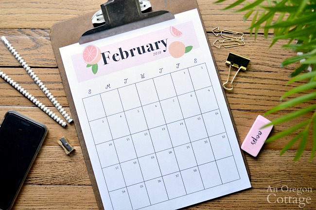 Monthly Calendar Printable on clipboard