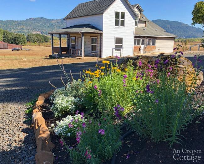 Farmhouse and flowers 9-18