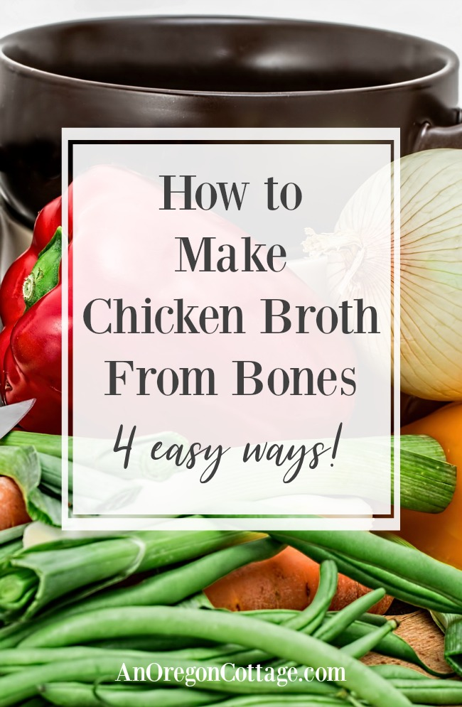 How to make chicken broth from bones