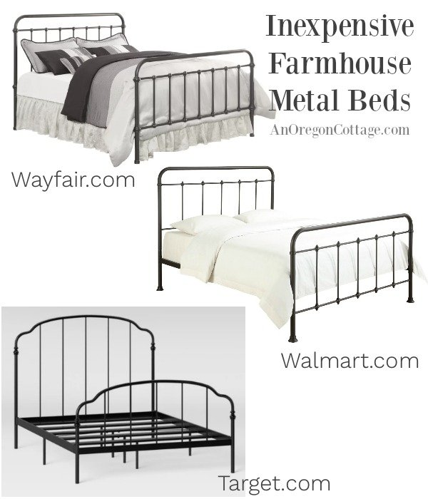 Inexpensive Farmhouse Metal Beds
