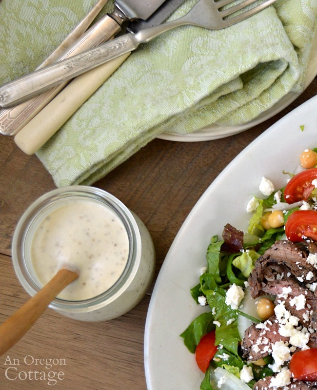 Creamy Garlic Pepper Salad Dressing above