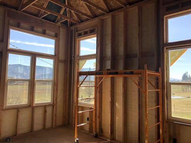 Farmhouse new bedroom windows framed