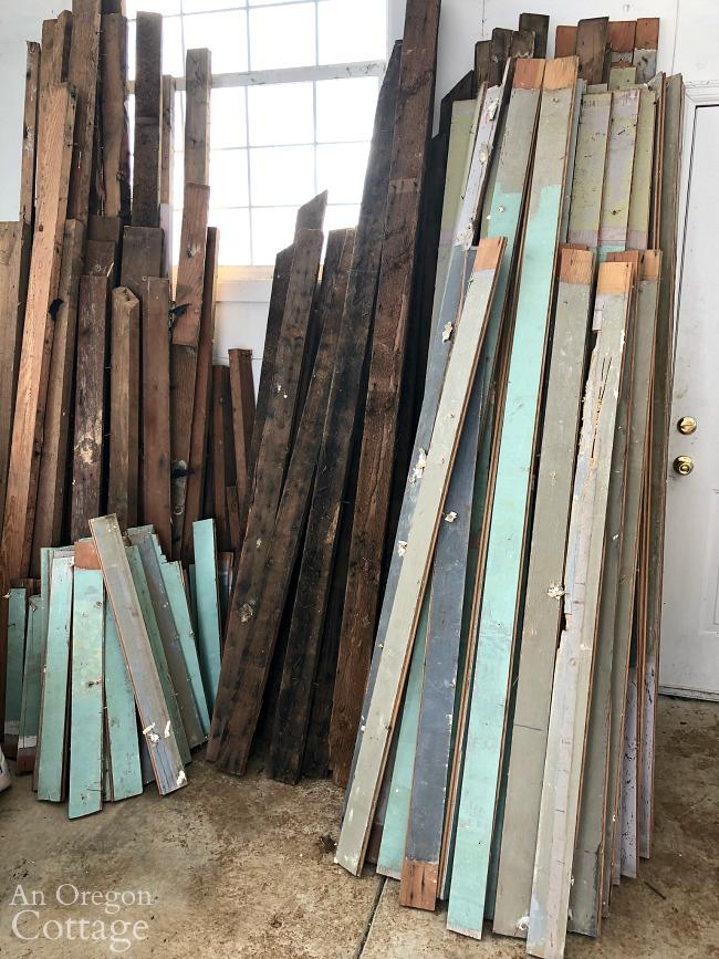 Farmhouse salvaged wood