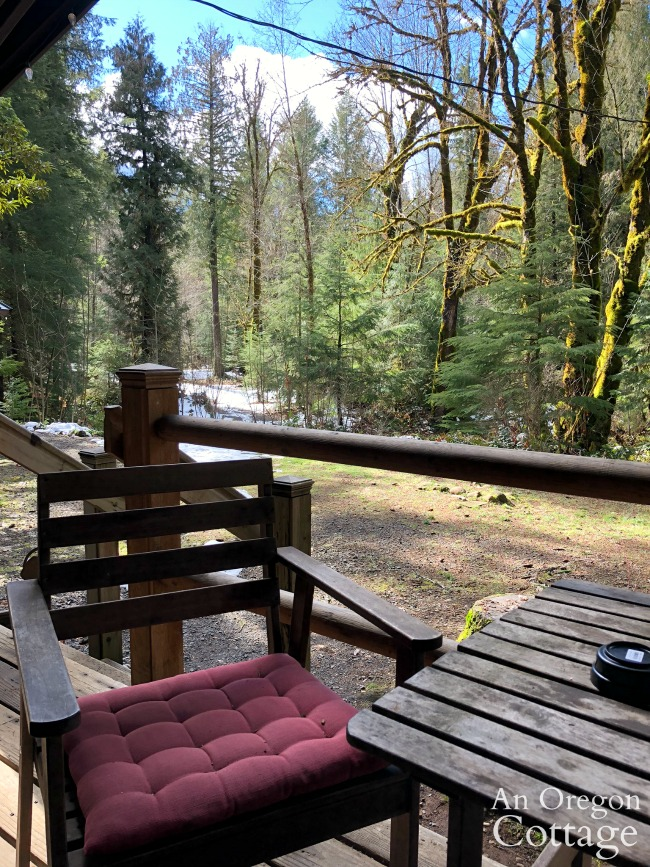 airbnb cabin porch