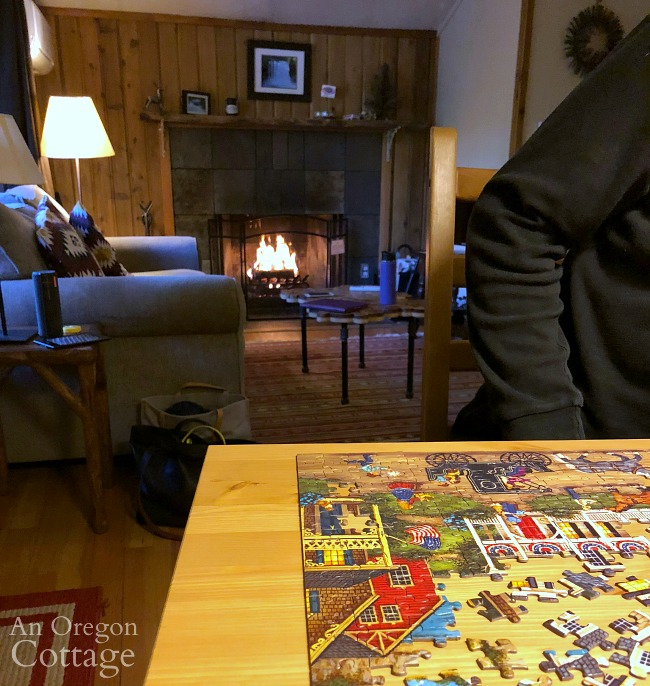 working puzzle in cabin