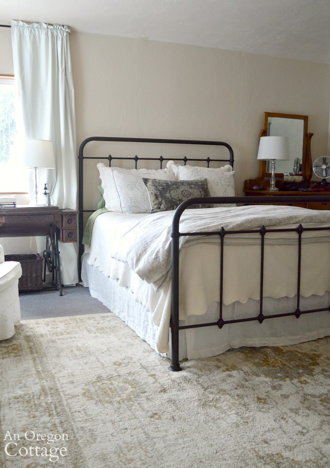 Farmhouse Metal Bed in bedroom
