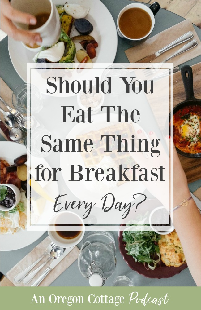 Podcast-55-Eat the same thing for breakfast
