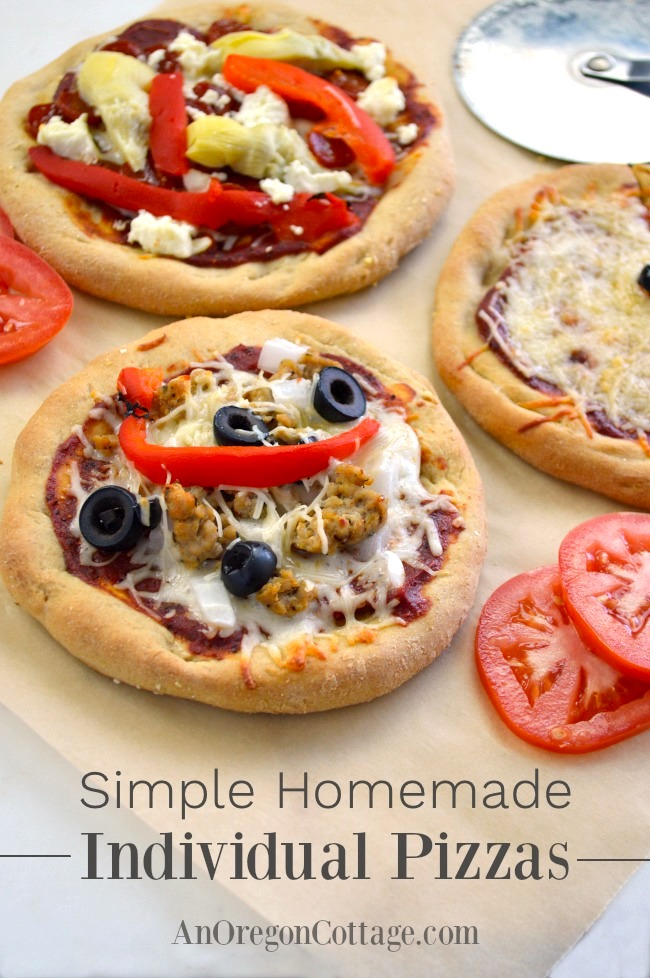 Simple Individual Homemade Pizza
