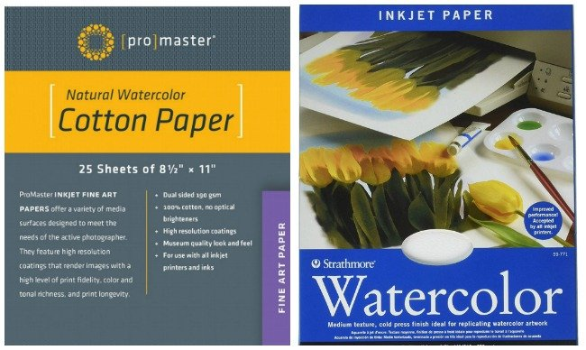 Watercolor printer paper options