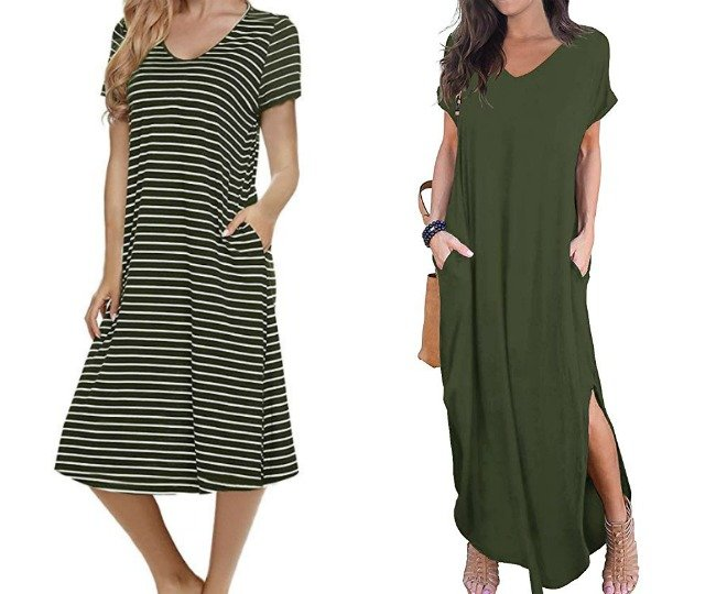 green midi and maxi dresses