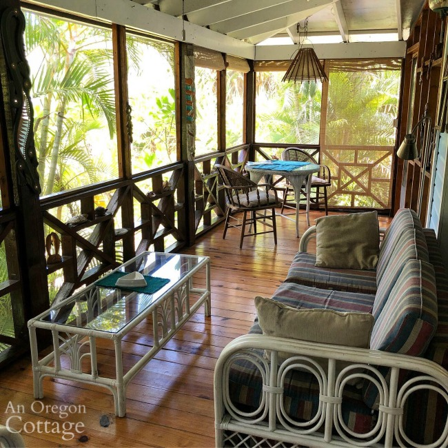 Airbnb screened porch