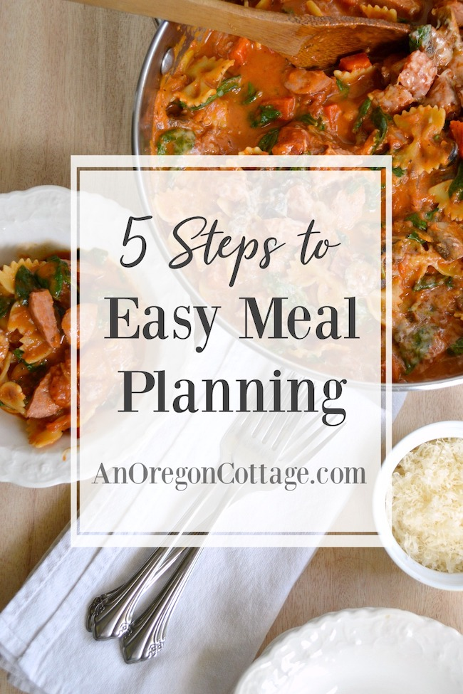 5 steps to Easy Meal Planning