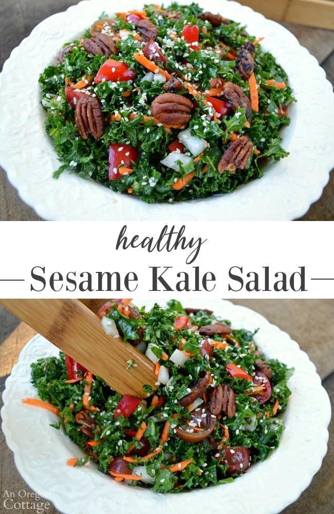 Healthy Sesame Kale Salad