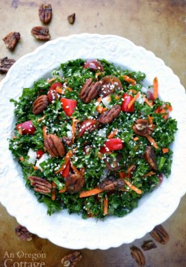 Sesame Kale Salad above