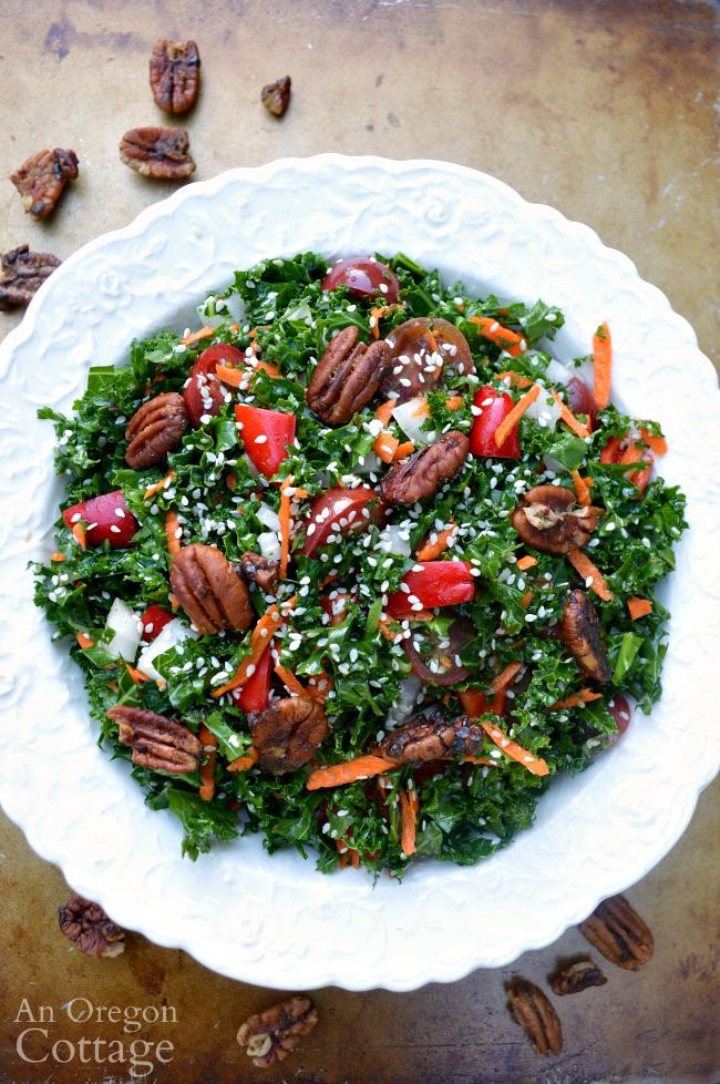 Sesame Kale Salad above