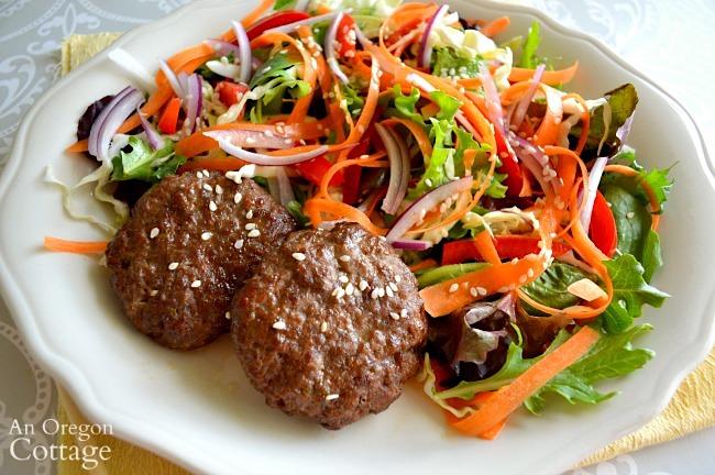 simple Thai beef salad on plate