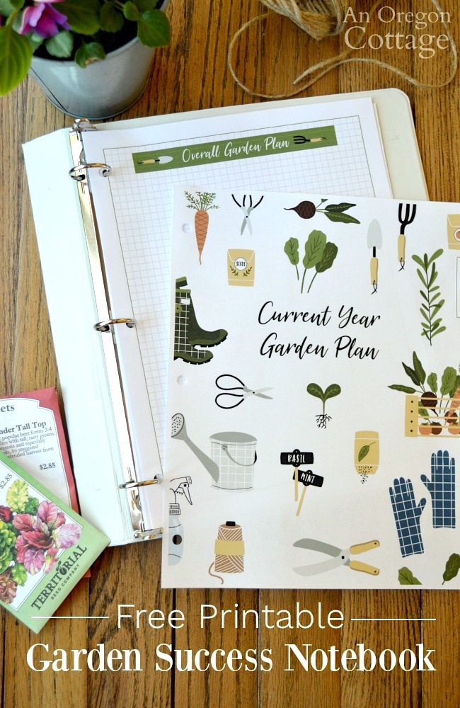 Inside Free Garden Notebook for 2019
