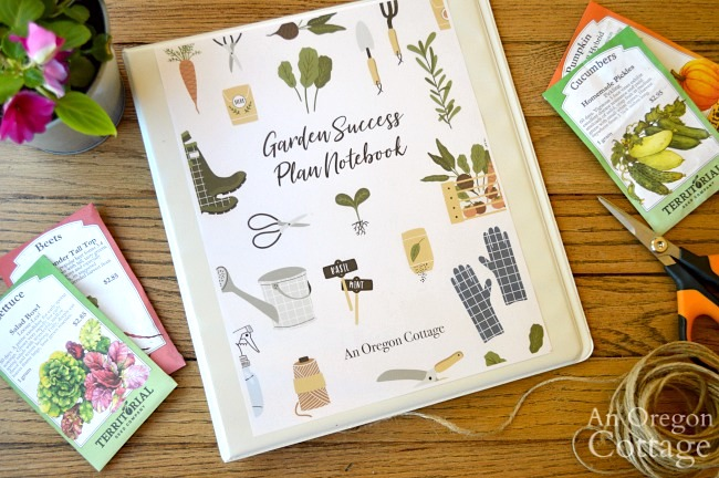 garden journal notebook binder