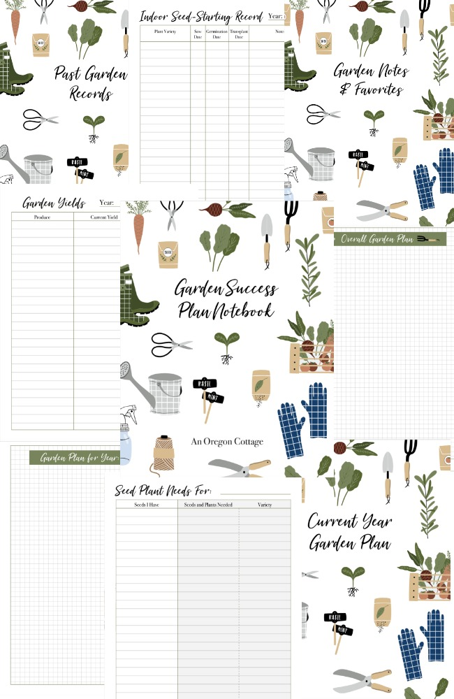 Garden success notebook pages