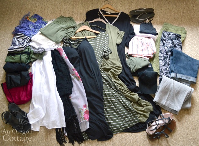 Warm vacation capsule wardrobe