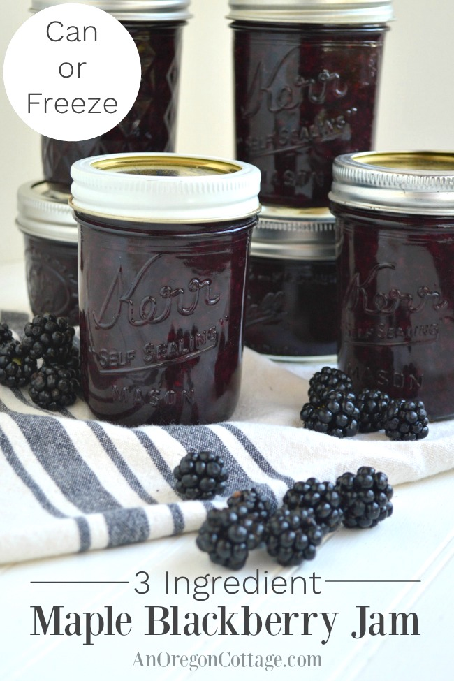 Can or Freeze Maple Blackberry Jam-pin image