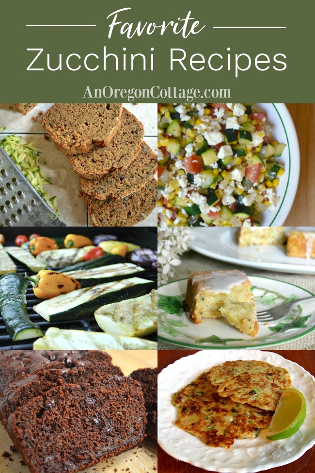 Favorite zucchini recipes pin image