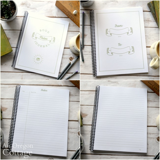 Book Notes Journal Printable Pages