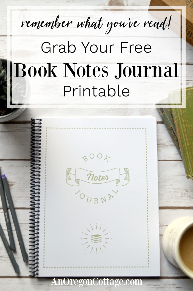 Free Book Notes Journal-pin