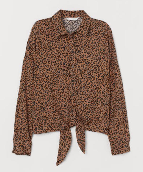 leopard print tie top