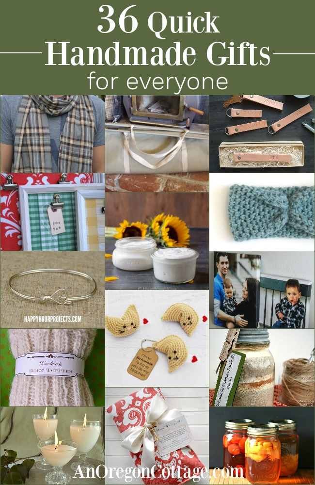 36 quick handmade gifts for everyone