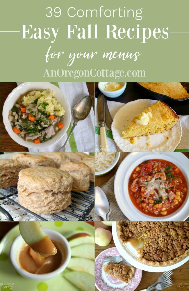 Easy fall recipes for menus