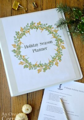 Holiday season planner cover and checklist