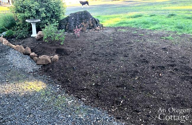 Mound without brick wall