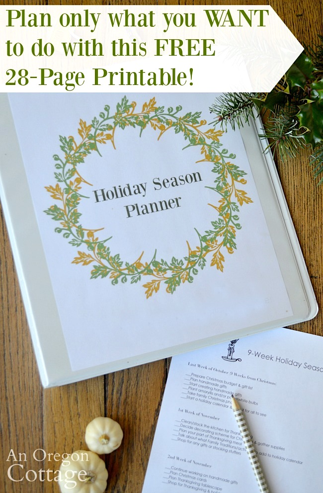Plan what you want-Holiday season planner