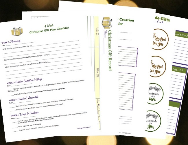 gift planner pages
