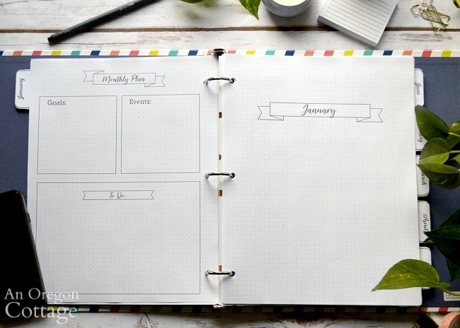 2020 Flexible Planner-monthly planning