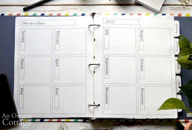 2020 Flexible Planner-year at a glance