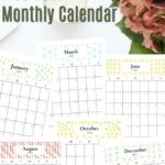2021 monthly calendar-flowers