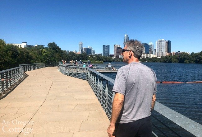 Brian Austin lake bridge path