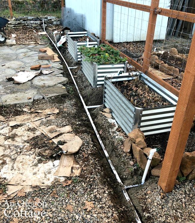 Second run of garden watering system installed