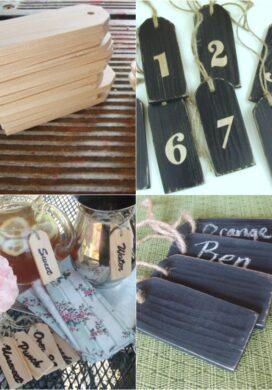 Wood tags 3 ways