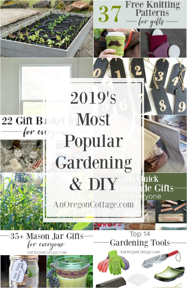 2019 popular gardening and DIY collage