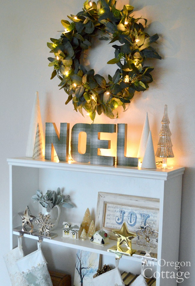 Christimas Decor 2019-noel shelf lit