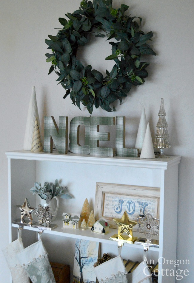 Christimas Decor 2019-noel shelf unlit