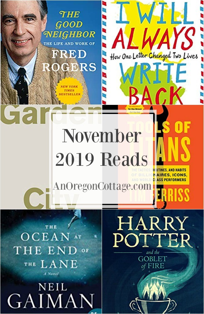 November 2019 books read