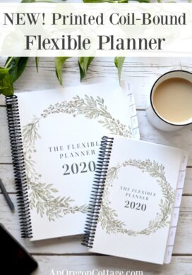 printed coil bound Flexible Planner pin