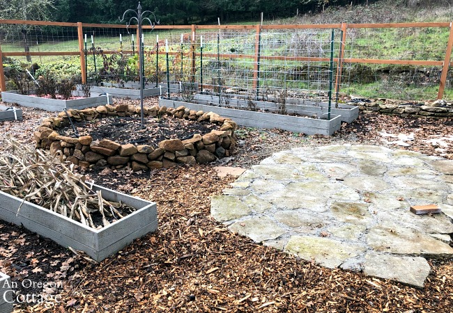 raised bed vegetable garden-December 2019