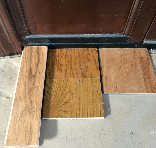 Flooring samples in farmhouse